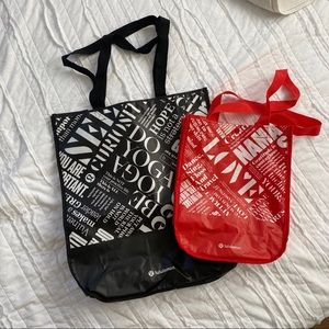 Bundle of two lululemon shop bags